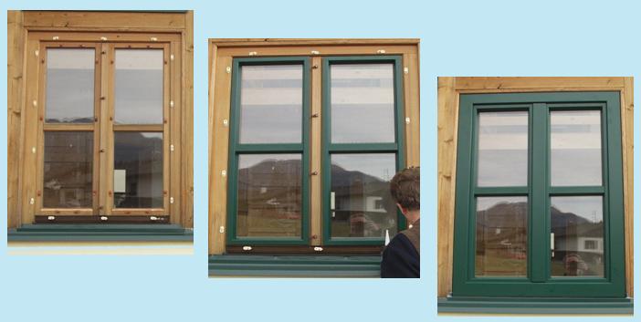 Postup instalace dodatečného hliníkového opláštění dřevěných oken